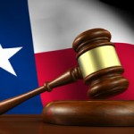 Texas flag and gavel