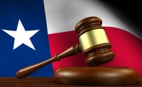 Texas flag and gavel