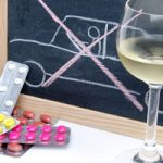 Concept about driving under influence of medicines and alcohol