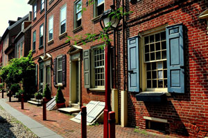 Row houses in Philadelphia, PA